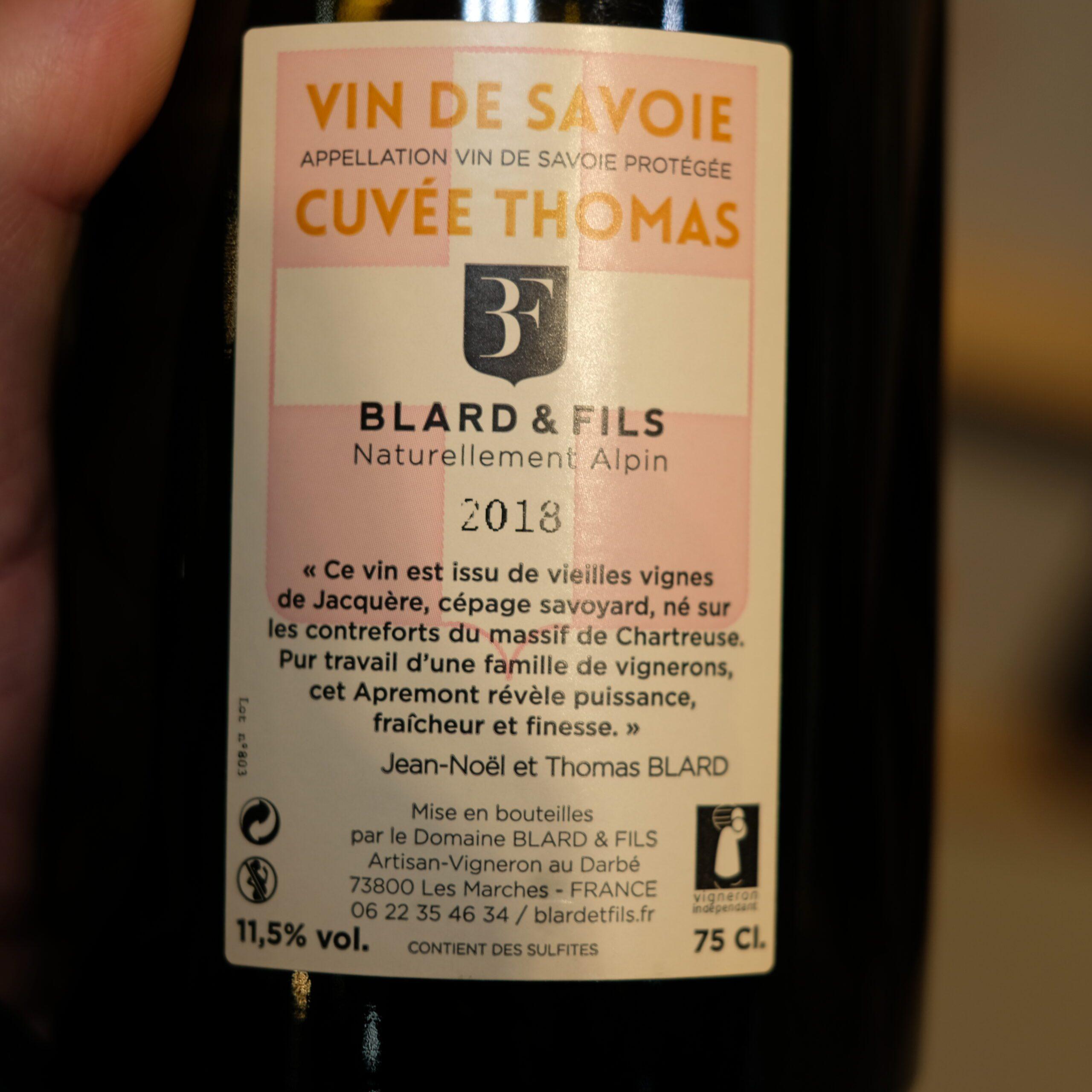 verso vin apremont biologique cuvee thomas ATELIER LAVARENNE fleuriste Lyon