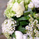 bouquet fleurs blanches elegance atelier lavarenne lyon