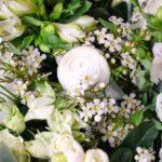 bouquet fleurs blanches elegance atelier lavarenne lyon 4
