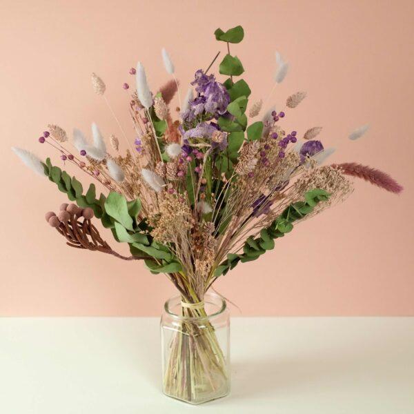 bouquet-fleurs-sechees-violet-atelier-lavarenne-fleuriste-lyon