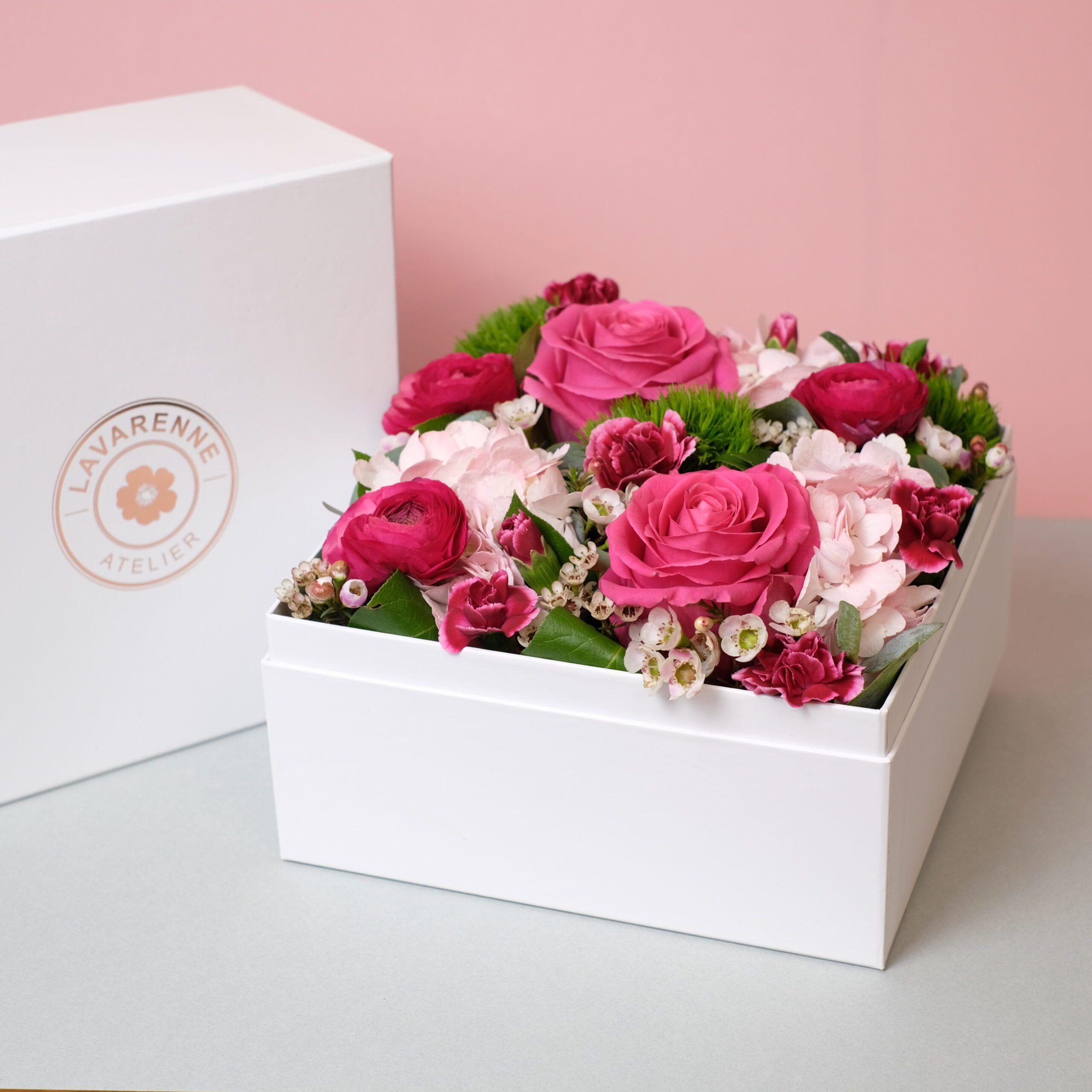 flower box vie en rose Atelier Lavarenne fleuriste Lyon