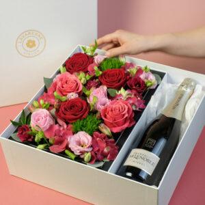 Coffret-champagne-flower-box-atelier-lavarenne-fleuriste-lyon