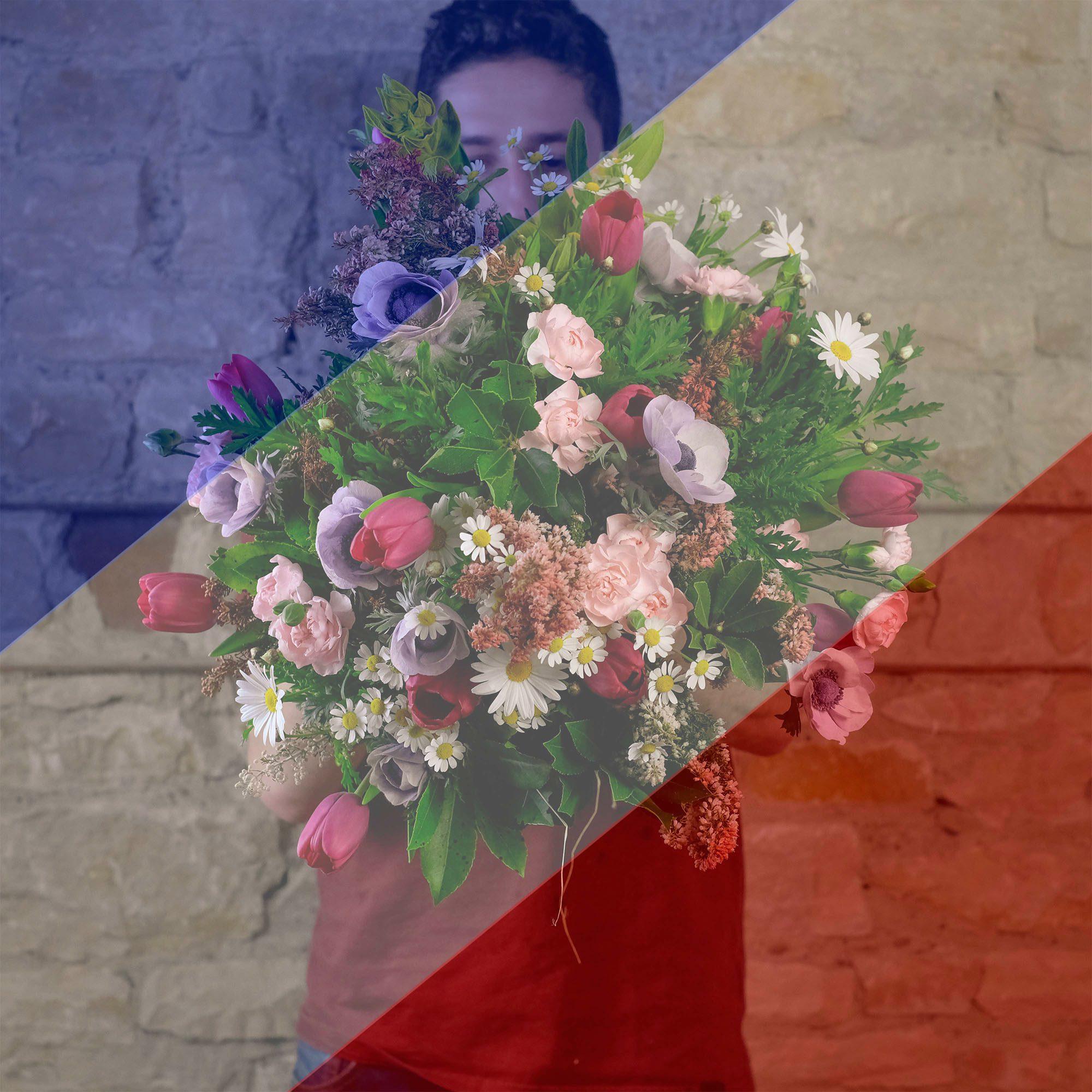 Bouquet surprise composé de fleurs françaises de saison