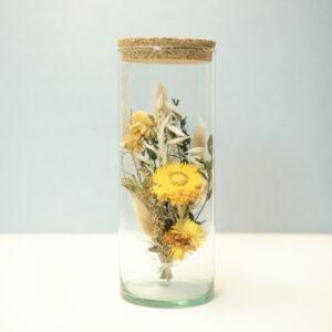 Tube de fleurs séchées jaunes